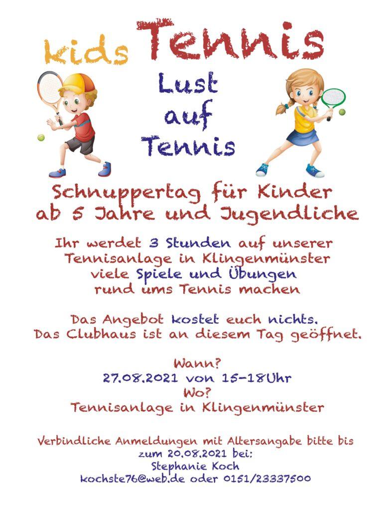 Lust auf Tennis?